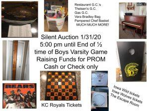 Jr Class silent auction