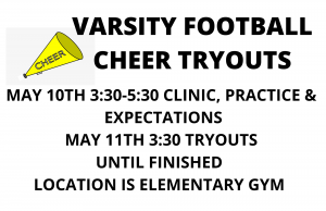VARISTY FOOTBALL CHEER TRYOUTS